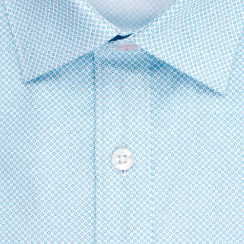 Enlarge  BROOKSFIELD Mens  Micro Geo Print Shirt BFC1515 AQUA