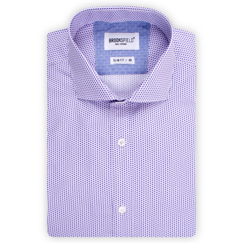 Brooksfield Career Polka Dot Print Shirt BFC1517 colour: PURPLE