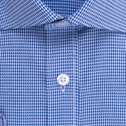 Enlarge  BROOKSFIELD Mens Floating Dobby Micro Gingham Shirt BFC1522 NAVY