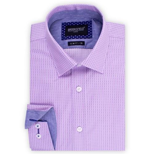 Brooksfield Square Textured Weave Shirt BFC1523 colour: PURPLE