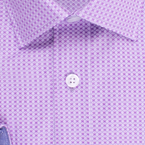 Enlarge  BROOKSFIELD Mens Square Textured Weave Shirt BFC1523 PURPLE