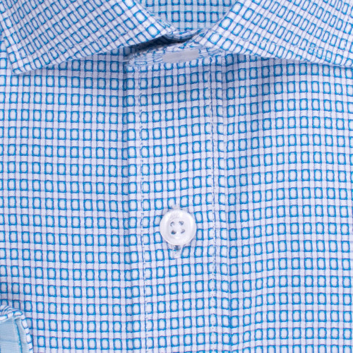 Enlarge  BROOKSFIELD Mens Floating Dobby Grid Weave Shirt BFC1528 AQUA