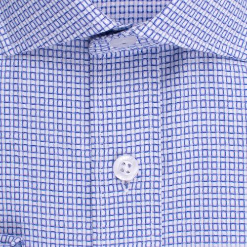 Enlarge  BROOKSFIELD Mens Floating Dobby Grid Weave Shirt BFC1528 PURPLE
