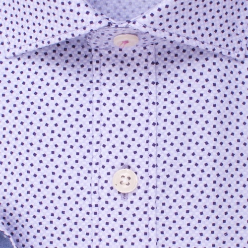 Enlarge  BROOKSFIELD Mens Texutred Square Print Shirt BFC1532 LILAC
