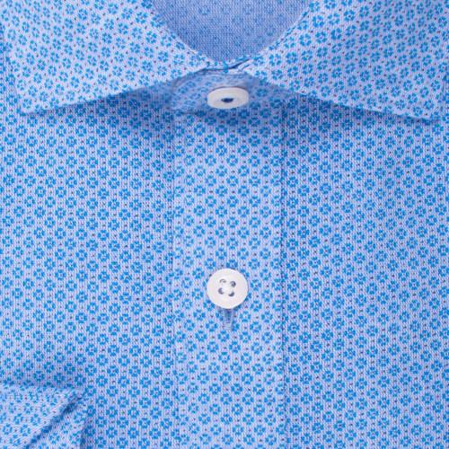 Enlarge  BROOKSFIELD Mens Linen Blend Clover Print Shirt BFC1534 BLUE