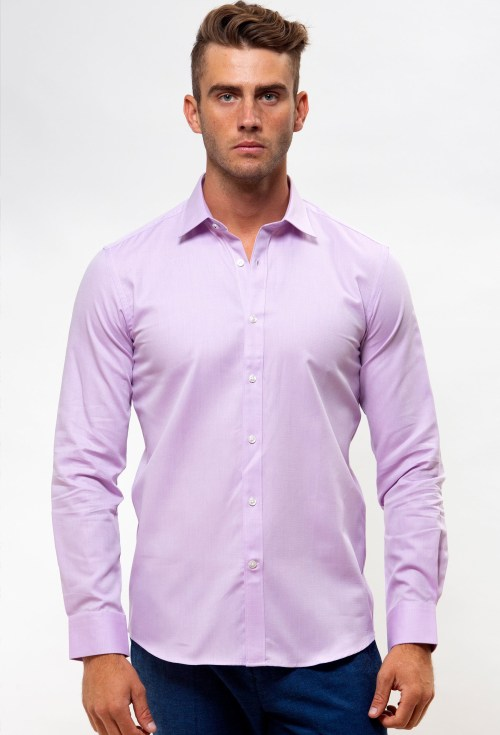 Enlarge  BROOKSFIELD Mens Career Textured Business Shirt BFC1537 LILAC