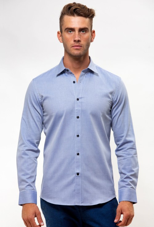 Enlarge  BROOKSFIELD Mens Career Textured Business Shirt BFC1537 NAVY