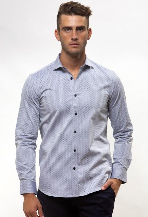 Enlarge  BROOKSFIELD Mens Career Textured Polka Dot Business Shirt BFC1542 NAVY