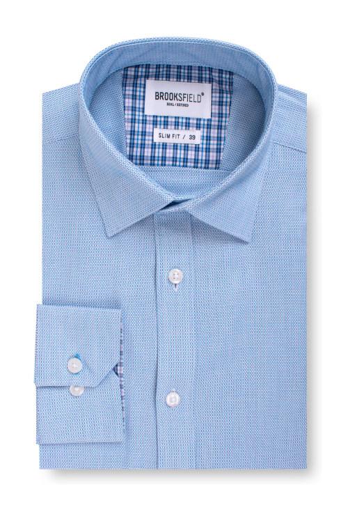Brooksfield Career Floating Dobby Business Shirt BFC1545 colour: AQUA