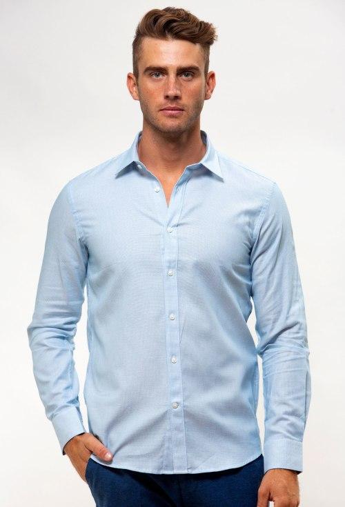 Enlarge  BROOKSFIELD Mens Career Floating Dobby Business Shirt BFC1545 AQUA