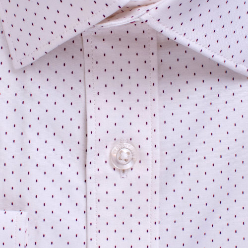 Enlarge  BROOKSFIELD Mens Career Stretch Dash Print Business Shirt BFC1547 WHITE