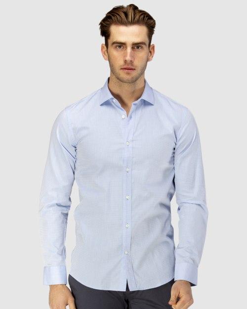 Enlarge  BROOKSFIELD Mens Career Diamond Weave Business Shirt BFC1581 SKYWAY