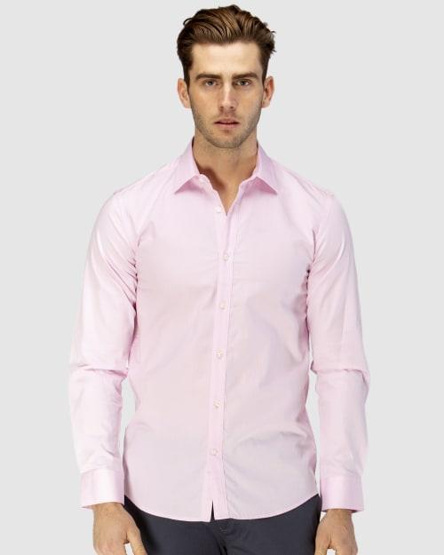 Enlarge  BROOKSFIELD Mens Career Floating Dot Dobby Business Shirt BFC1582 PINK