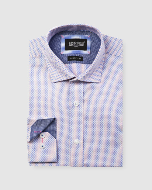 Brooksfield Micro Square Dobby Business Shirt BFC1600 colour: PINK