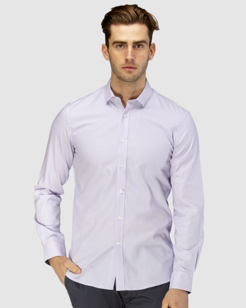 Enlarge  BROOKSFIELD Mens Micro Square Dobby Business Shirt BFC1600 PINK