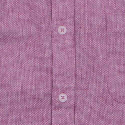 Enlarge  BROOKSFIELD Mens Linen Blend Pin Dot Print Casual Long Sleeve Shirt BFS917 FUSCHIA