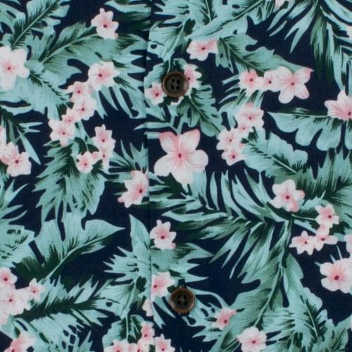 Enlarge  BROOKSFIELD Mens Tropical Print Casual Short Sleeve Shirt BFS923 NAVY