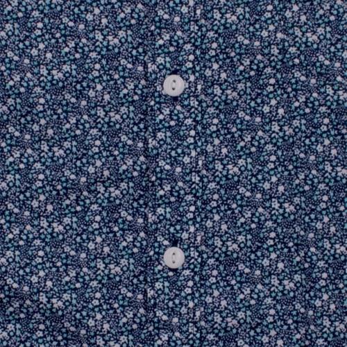 Enlarge  BROOKSFIELD Mens Micro Flower Print Casual Short Sleeve Shirt BFS928 AQUA