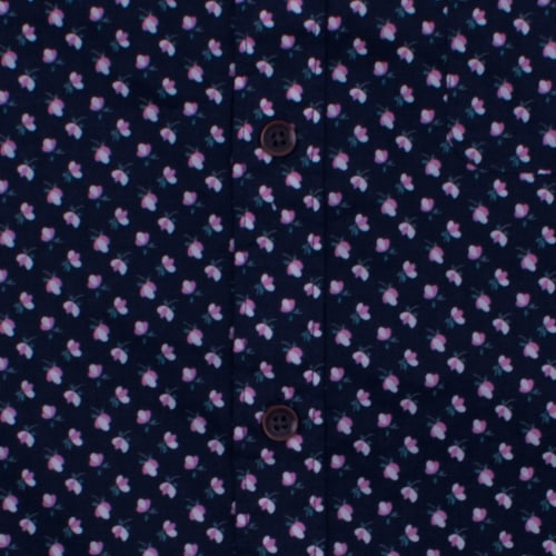Enlarge  BROOKSFIELD Mens Flower Print  Casual Short Sleeve Shirt BFS932 NAVY