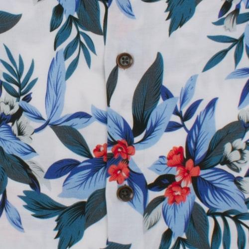 Enlarge  BROOKSFIELD Mens Hawaiian Print Casual Short Sleeve Shirt BFS933 BLUE