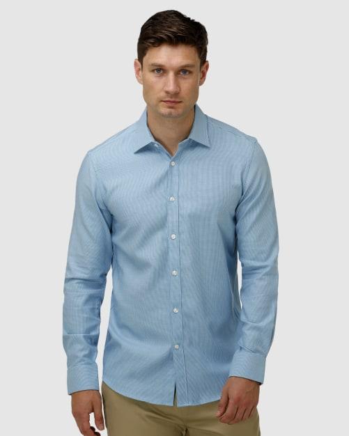 Enlarge  BROOKSFIELD Mens Micro Three Tone Business Shirt BFC1623 AQUA