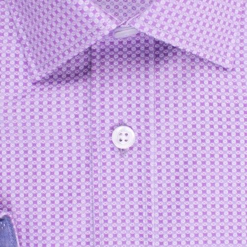 Enlarge  BROOKSFIELD Mens Square Textured Weave Shirt BFC1523 PURPLE