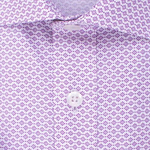 Enlarge  BROOKSFIELD Mens Dot Flower Print Shirt BFC1533 FUSCHIA