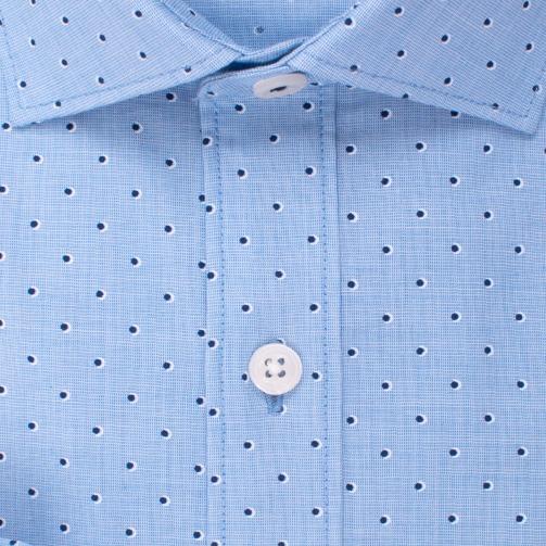 Enlarge  BROOKSFIELD Mens Luxe End on End Dot Print Shirt BFC1536 AQUA