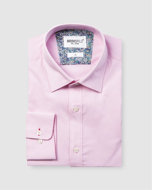 Brooksfield Career Floating Dot Dobby Business Shirt BFC1582 colour: PINK