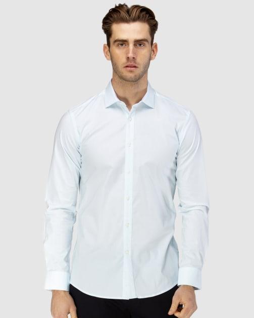 Enlarge  BROOKSFIELD Mens Career Fine Diamond Print Business Shirt BFC1590 AQUA