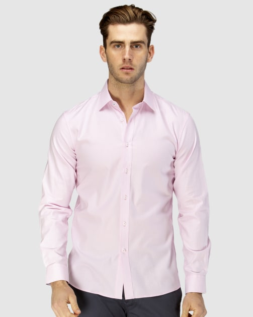 Enlarge  BROOKSFIELD Mens Luxe Two-tone Textured Dobby Business Shirt BFC1597 PINK