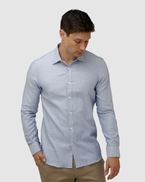 Enlarge  BROOKSFIELD Mens Micro Three Tone Business Shirt BFC1623 BLUE