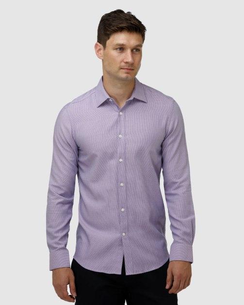 Enlarge  BROOKSFIELD Mens Micro Three Tone Business Shirt BFC1623 Purple