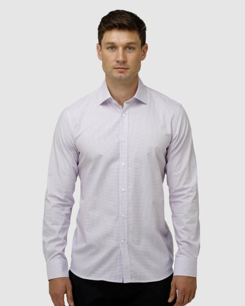 Enlarge  BROOKSFIELD Mens Texture Square Weave Business Shirt BFC1626 LILAC