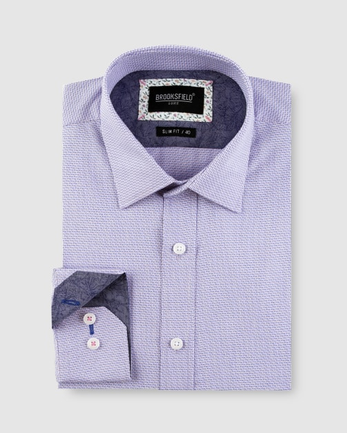Brooksfield Intricate Weave Business Shirt BFC1641 colour: PINK