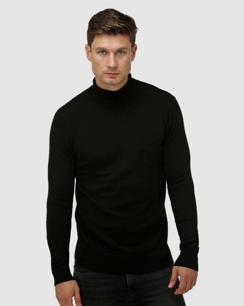 Brooksfield Roll Neck Sweater BFK395 colour: BLACK