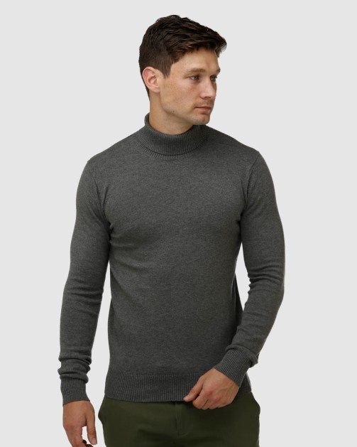 Brooksfield Roll Neck Sweater BFK395 colour: GREY