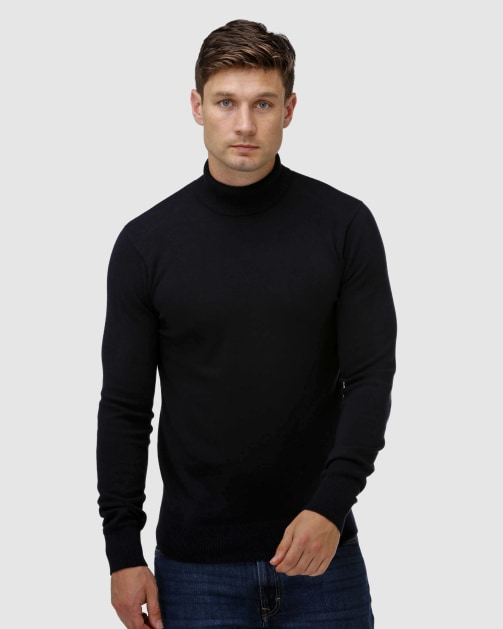 Brooksfield Roll Neck Sweater BFK395 colour: NAVY