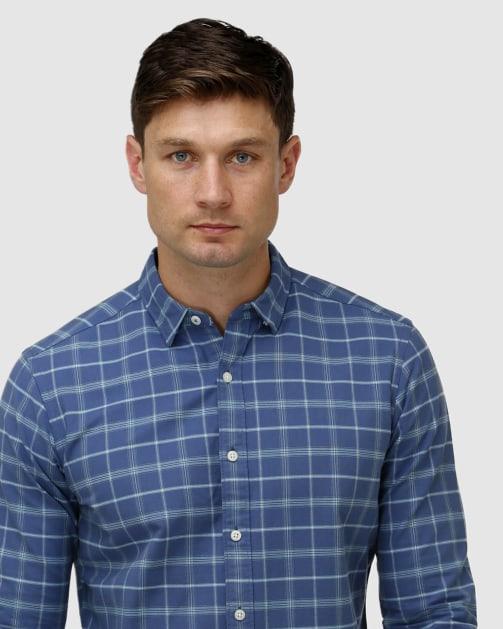 Enlarge  BROOKSFIELD Mens Brushed Plaid Casual Shirt BFS961 Teal