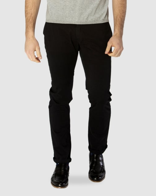 Brooksfield  BLACK Cotton Stretch Chino BFU688 colour: BLACK