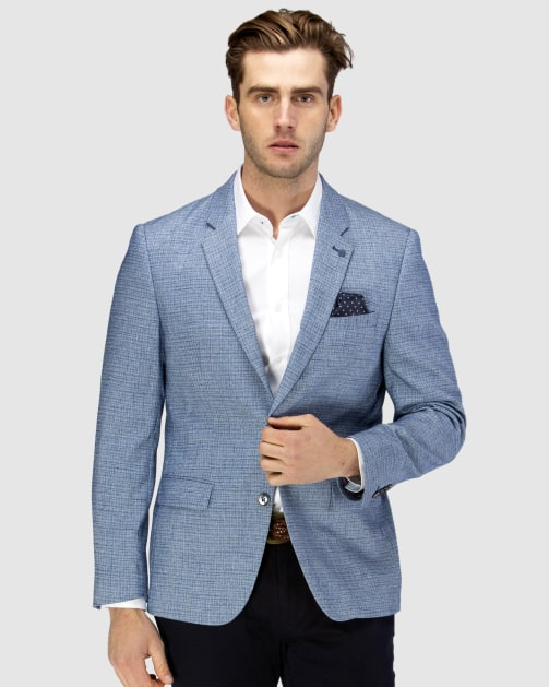 Brooksfield Crosshatch Textured Blazer BFU835 colour: BLUE