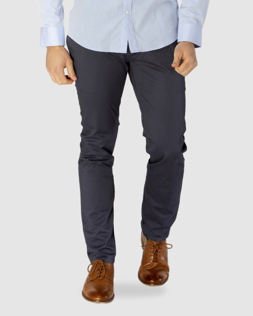 Brooksfield Diamond Print Stretch Chino BFU838 colour: NAVY