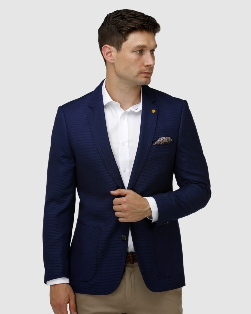 Brooksfield Modern Textured Plain Blazer BFU852 colour: NAVY
