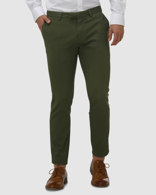 Brooksfield Cotton Stretch Tailored Chino BFU857 colour: KHAKI
