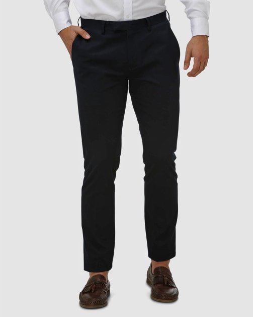 Brooksfield Cotton Stretch Tailored Chino BFU857 colour: NAVY