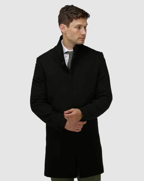 Brooksfield Sleek Long-line Overcoat BFU858 colour: Black