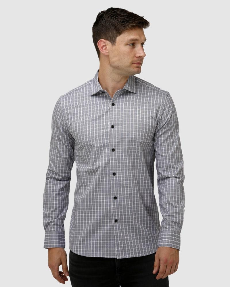 Enlarge  BROOKSFIELD Mens Modern Check Business Shirt BFC1638 WINE
