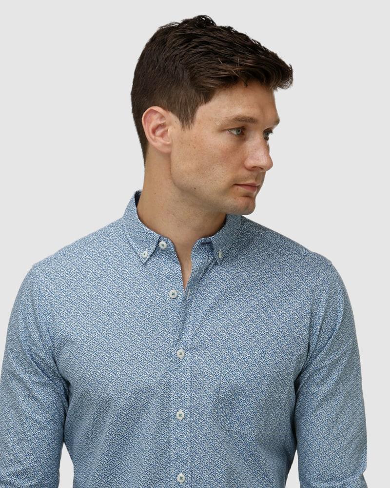 Enlarge  BROOKSFIELD Mens Geo Print Casual Shirt BFS960 Teal