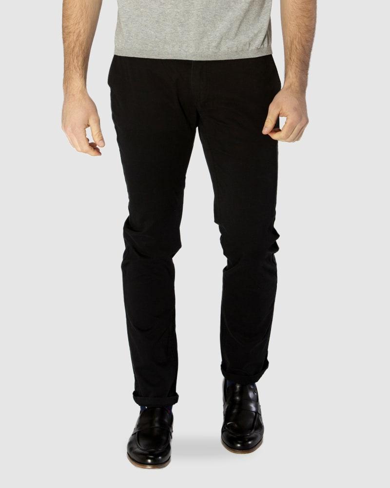 Enlarge  BROOKSFIELD Mens  BLACK Cotton Stretch Chino BFU688 BLACK
