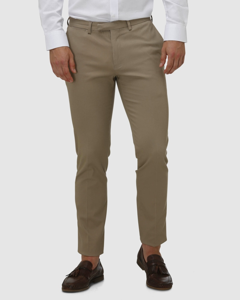 Enlarge  BROOKSFIELD Mens Cotton Stretch Tailored Chino BFU857 TAN